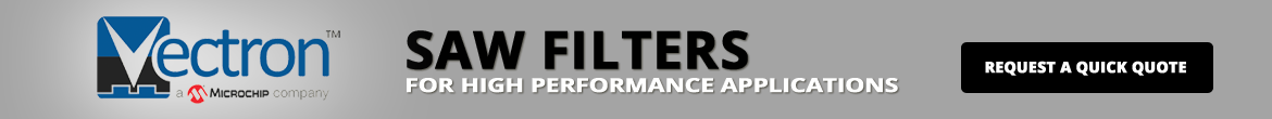 Vectron SAW Filter Banner